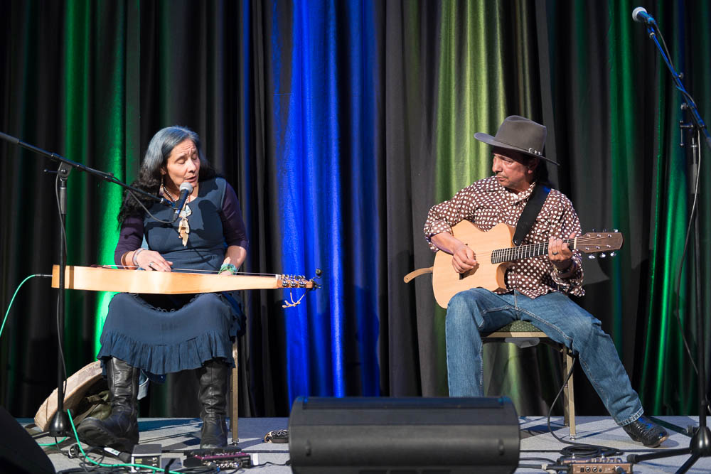 Indigenous Musicians Pura Fe and Cary Morin